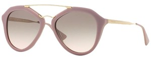 Prada PRADA Opal Matte Pink Aviator Sunglasses with Gold Trim PR 12QS TKP4K0 - FREE 3 DAY SHIPPING -