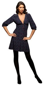 Marc by Marc Jacobs short dress Navy Multi Color Silk Ace Of Spades 3/4 Sleeve on Tradesy