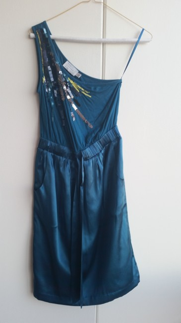 The Limited Sequin Pockets One Shoulder Dress