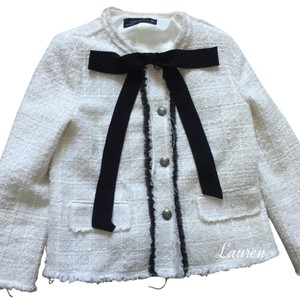 Zara Chanel Tweed Chanel White Jacket