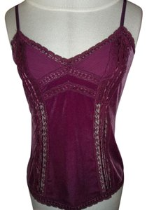 Moda International Large Lace Accents Top Magenta
