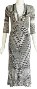 Karen Millen Viscose Stretchy Bodycon V-neck Sexy Dress