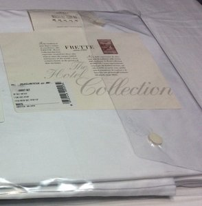 Frette Hotel Classic Egyptian Cotton Cal.king Sheet Set White/ White Embroidery