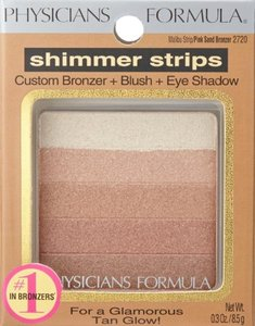 Physicians Formula Physicians Formula Shimmer Strips Custom Bronzer+Blush+Eye Shadow, Malibu Strip/Pink Sand Bronzer 2720