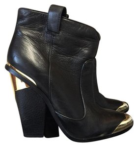 Dolce Vita And Gold Leather black Boots