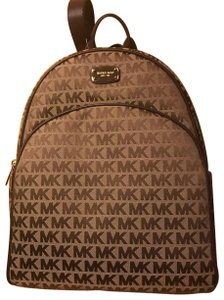 Michael Kors Leather Gold Hardware Backpack