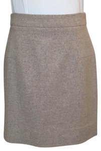 J.Crew Mini Skirt Tan/oatmeal