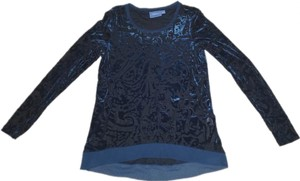 Vera Wang Velvet Top Teal Blue