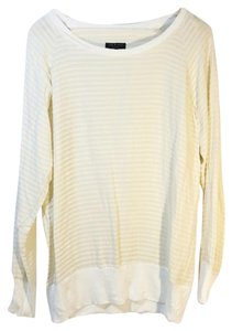 Rag & Bone Silk Tiered Long Sleeve Top Cream