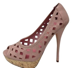 Privileged Tall Leather PINK Pumps