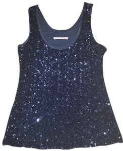 Velvet by Graham & Spencer Sequin Tank Top Navy Blue