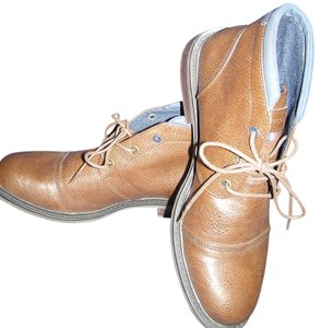 Tommy Hilfiger Leather Ankle Brown Boots