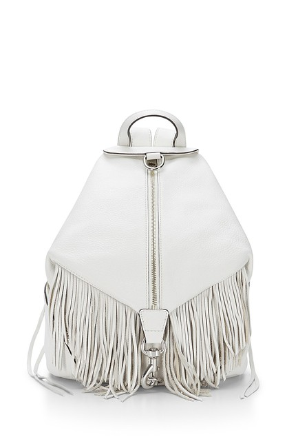Item - Julian In Soft Blue White Leather Backpack