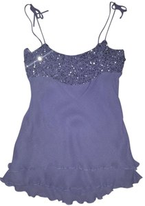 To the Max Spaghetti Strap Ruffles Top Lilac