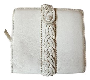 Bottega Veneta Bottega Veneta White Leather Bifold Wallet