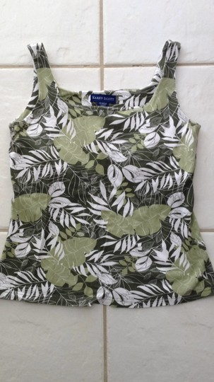 0df5d4f6ea high-quality Karen Scott Top Greens And White - 13% Off Retail ...