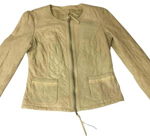 Patrizia Pepe Nude/Beige Leather Jacket