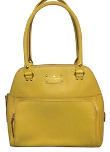 Kate Spade Leather Satchel in Yellow