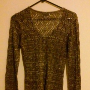 Worthington Crochet Pullover Sweater