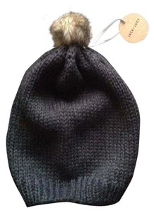 Jack and Lucy Jack and Lucy Knit Hat with Faux Fur Pom Pom