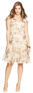 Lauren Ralph Lauren short dress Tan Floral on Tradesy