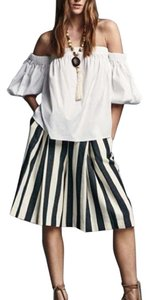 MILLY Bermuda Shorts White Navy