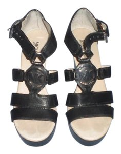 Michael Kors Wedge Platform Black Sandals