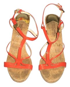 Michael Kors Wedge Platform RED Sandals
