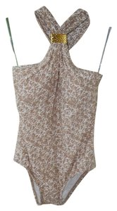 Michael Kors NWT Michael Kors Halter Top Swimsuit with Gold Clasp