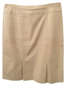 Nanette Lepore Office Pleated Tan Skirt Beige