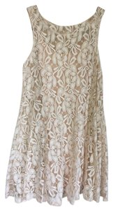 Free People short dress cream/tan Lace Short on Tradesy