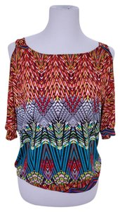 Charming Charlie Top Red Multi Color