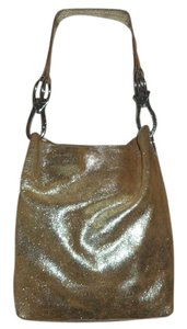 TESS LORIANI MILANO Metallic Italian Leather Hobo Bag