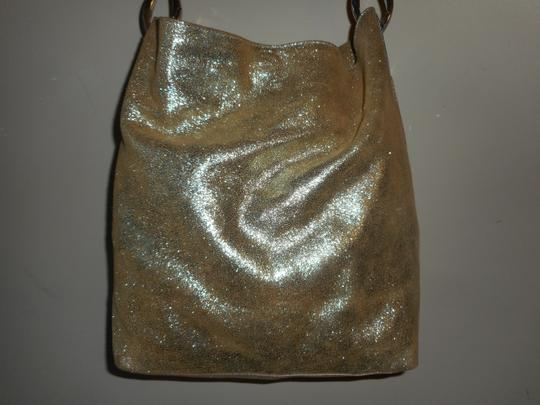TESS LORIANI MILANO Metallic Italian Leather Hobo Bag Image 1