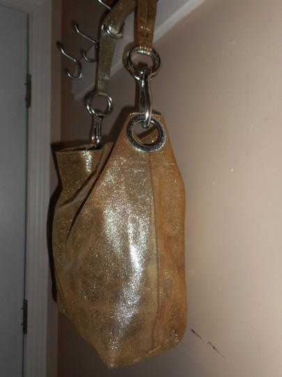 TESS LORIANI MILANO Metallic Italian Leather Hobo Bag Image 3