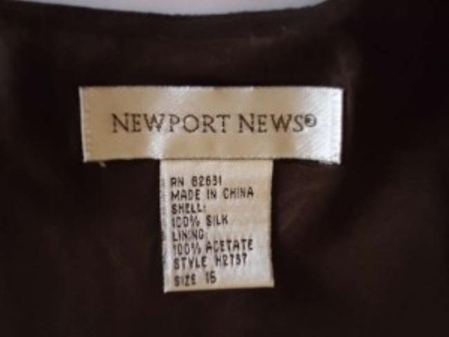 Newport News Silk/Acetate Blend Size 14 Lined Slip Dress