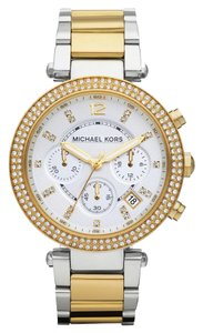 Michael Kors NWOT MICHAEL KORS Chronograph Parker Two Tone Watch MK562