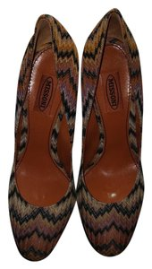 Missoni Zigzag Flame Rust and Black Pumps