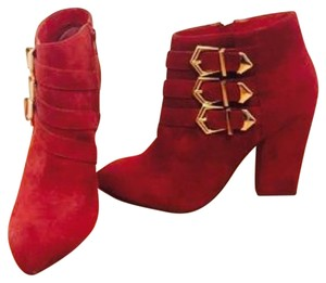 Asos booties Red Boots