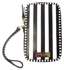 Henri Bendel Dark Brown/ White Cell-Phone Case Wallet or Credit Card