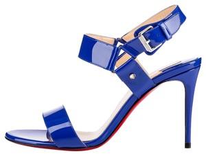 Christian Louboutin Heels Stiletto Patent Leather Blue Sandals
