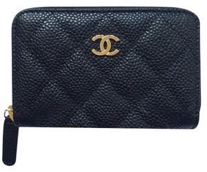 Chanel BNIB Caviar wallet Card case coin purse with gold hardware