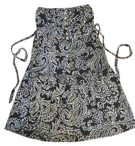 American Eagle Outfitters short dress Black and White Paisley Strapless on Tradesy