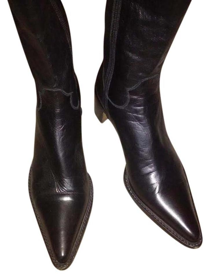Rocco P. Black Boots/Booties Leather Ankle Boots/Booties Black 5b11b7