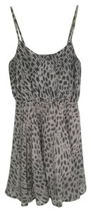 Lucca Couture short dress Gray Leopard Flounce Full Skirt Mini on Tradesy