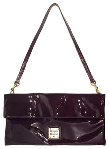 Dooney & Bourke Patent Leather Business Night Out Studded Purple Clutch