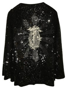 Jean-Paul Gaultier Sequin Top Black