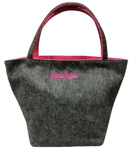 Neiman Marcus Tote in Charcoal gray/pink