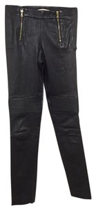 J Brand Moto Leather Party Skinny Pants Black