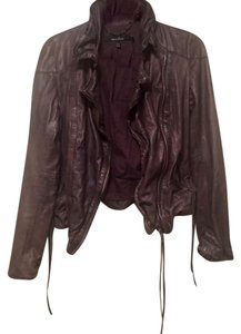 Muubaa Leather Party Night Out dusty brown Leather Jacket
